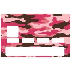 Sticker CB Militaire rose