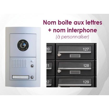 Sticker Nom boite aux lettres + interphone