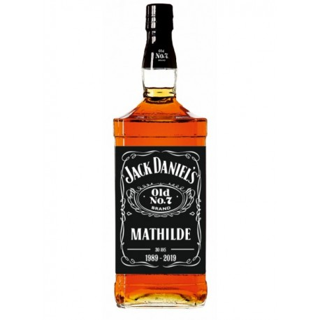Sticker Bouteille Jack Daniel's personnalisé